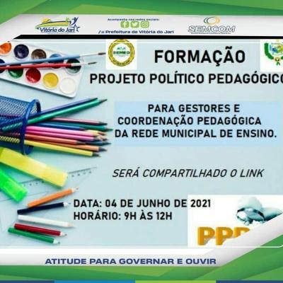 Formação Projeto Político Pedagógico para os gestores e coordenadores das escolas do município