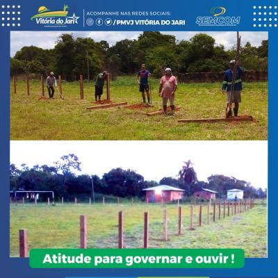 Construção e melhoramento da estrutura do estádio de Jarilândia, Distrito de Vitória do Jari