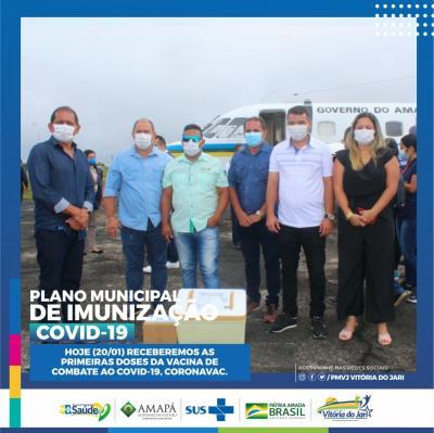 Vacina contra a Covid-19 chega a Vitória do Jari